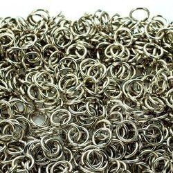 Kółka stalowe ø 10 mm 1 kg srebrne