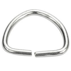 Półkółka kaletnicze do torebki szelek kombinezonu paska 21 mm srebrne 100 szt.
