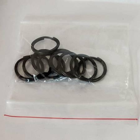 Kółka płaskie do kluczy breloków 20 mm 10 szt. czarne