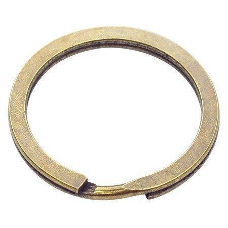 Kółka płaskie do kluczy breloków 25 mm 100 szt. stare złoto