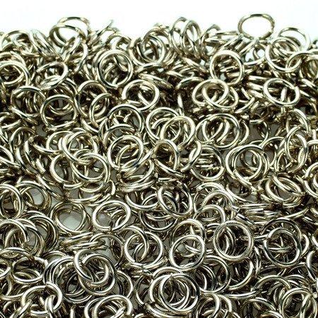 Kółka stalowe ø 8 mm 1 kg srebrne
