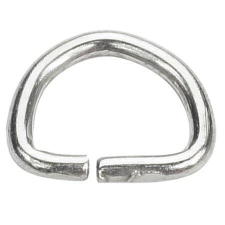 Półkółka kaletnicze do torebki szelek kombinezonu paska 10 mm srebrne 10 szt.
